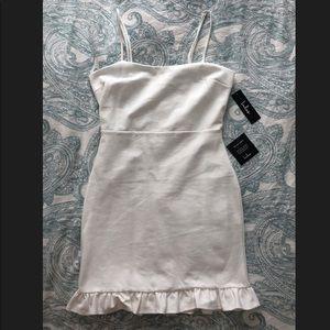 Brand new white Lulus bodycon mini dress